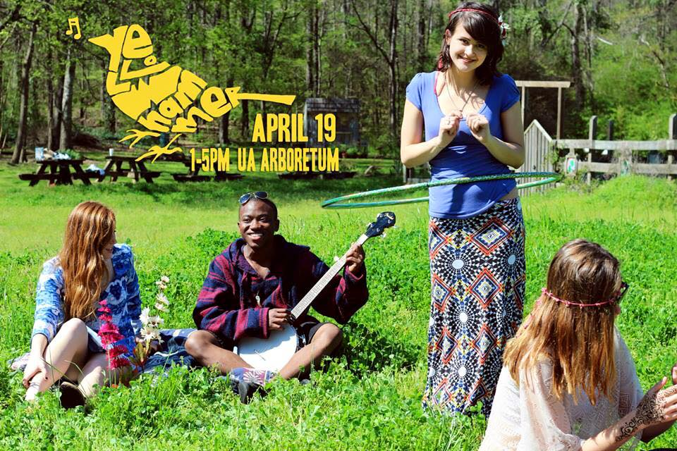 YellowHammer Fest April 19 1-5pm UA Arboretum